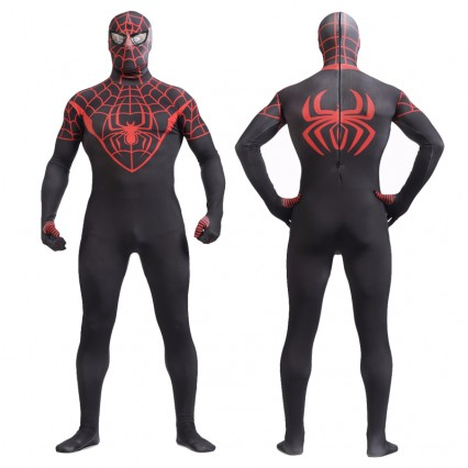 Superhero Comic Costumes Wholesale Halloween Black Spiderman Lycra Spandex Zentai from China Manufacturer Directly