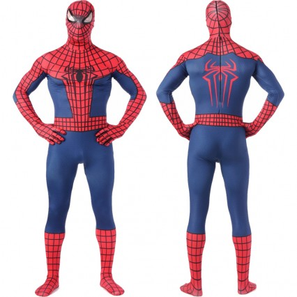 Superhero Comic Costumes Wholesale Two Toned Spiderman Costume Cosplay Superhero Lycra Spandex Zentai Suit Halloween from China Manufacturer Directly