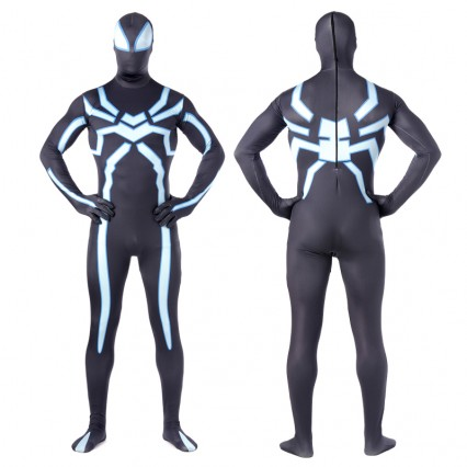 Superhero Comic Costumes Wholesale Black Lycra Spandex  Zentai Suit Inspired by Spiderman Halloween Costumes from China Manufacturer Directly