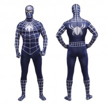 Superhero Comic Costumes Wholesale Navy Blue Spiderman Zentai Suit Halloween Lycra Spandex Super Hero Costume Halloween from China Manufacturer Directly
