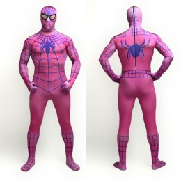 Superhero Comic Costumes Wholesale Red Wine Spiderman Lycra Spandex Full Body Zentai Suit from China Manufacturer Directly