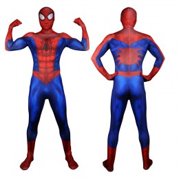 Superhero Comic Costumes Wholesale Ultimate Spiderman Costume 3D Original Movie Superhero Costume SpiderMan Fullbody Zentai Suit Hood Separated from China Manufacturer Directly