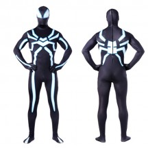 Superhero Comic Costumes Wholesale Zentai Suits League Of Legends Spider-Man Light Printed Leotard Onesie Cosplay Costume