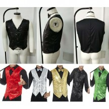 1920s Costumes Wholesale Sequin Waistcoat Casino Mens Showtime Costumes Supplier from China Manufacturer Directly