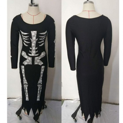 Halloween Scary Costumes Wholesale Skeleton Costumes Skeleton Halloween Womens Costume Wholesale from China Manufacturer Directly