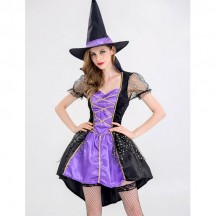 Halloween Scary Costumes Wholesale Witches Wizards Bewitching Witch Womens Halloween Costume Wholesale from China Manufacturer Directly