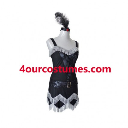 Women Costumes 1920s womens costume Flapper Costume Black Fancy dress for Carnival Party