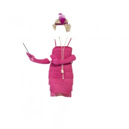 Women Costumes 1920s womens costume Flapper Costume Pink Fancy dress for Carnival Party