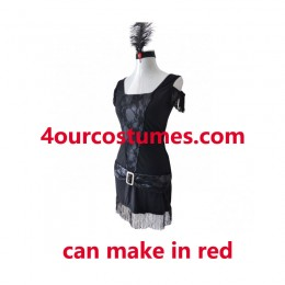 Women Costumes 1920s womens costume Jazz Flapper Red Fancy dress for Carnival Party