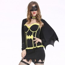 Superhero Comic Costumes Wholesale Batgirl Deluxe Women's Fancy Dress Costume from China Manufacturer Directly