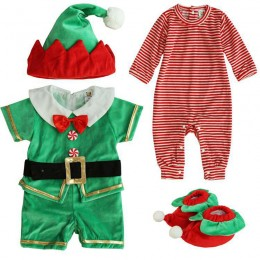 Baby Costumes Wholesale Santa's Lil' Elf costumes Set Infant Toddler Wholesale from Manufacturer Directly carnival Costumes