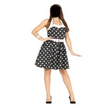 Women Costumes 1950s Womens Costume 1950s Polka Dot Costume for Carnival Party