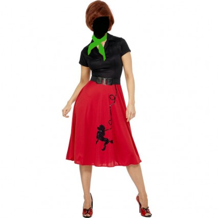 Women Costumes 1950s Womens Costume Poodle Costume Red for Carnival Party