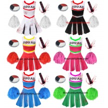 Girls zombie cheerleader children school fancy dress costume halloween teen kids