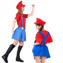 Womens Mens Childrens Adult Super Mario and Luigi Bros Fancy Plumber Halloween Costume