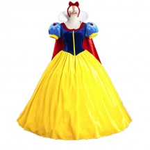 Halloween Cosplay Fancy Dress Princess Snow White Costume for Adult with Petticoat
