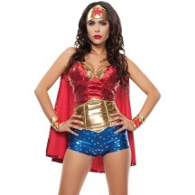 Halloween Sexy Lingerie Costumes Mascot Adult Fancy Dress Party Supply Carnival Star Spangled Hero Costume