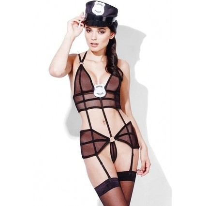 Halloween Sexy Lingerie Costumes Mascot Adult Fancy Dress Party Supply Carnival Sexy Fever Police Costume