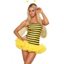 Halloween Sexy Lingerie Costumes Mascot Adult Fancy Dress Party Supply Carnival Honey Bee Halloween Costume