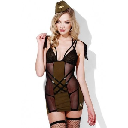 Halloween Sexy Lingerie Costumes Mascot Adult Fancy Dress Party Supply Carnival Major Tease Military Outfit