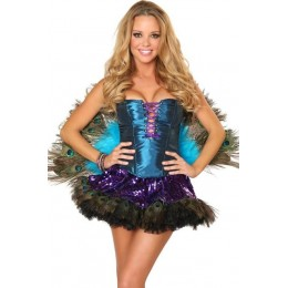 Halloween Sexy Lingerie Costumes Mascot Adult Fancy Dress Party Supply Carnival Sexy Peacock Halloween Costume