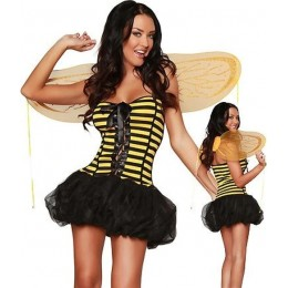 Halloween Sexy Lingerie Costumes Mascot Adult Fancy Dress Party Supply Carnival Sunny Bee Costume