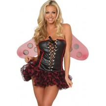 Halloween Sexy Lingerie Costumes Mascot Adult Fancy Dress Party Supply Carnival Sexy Busty Ladybug Halloween Costume