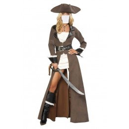 Halloween Sexy Lingerie Costumes Wholesale Beautiful Pirate Buccaneer Costume with Face Mask