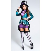 Halloween Sexy Lingerie Costumes Wholesale Delightful Hatter Costume