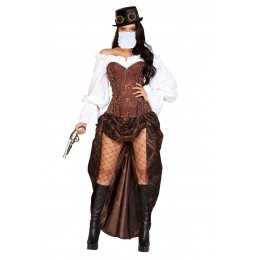Halloween Sexy Lingerie Costumes Wholesale Machinery Steampunk Costume with Face Mask