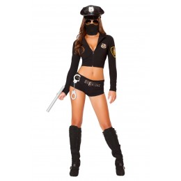 Halloween Sexy Lingerie Costumes Wholesale Officer Hottie Costume With Face Mask​