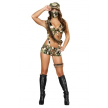 Halloween Sexy Lingerie Costumes Wholesale Seductive Soldier Costume with Face Mask