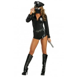 Halloween Sexy Lingerie Costumes Wholesale Sexy Lady Cop Costume With Face Mask
