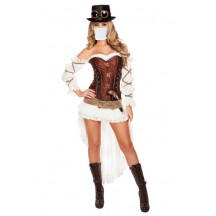 Halloween Sexy Lingerie Costumes Wholesale Steampunk Sweetheart Costume with Face Mask