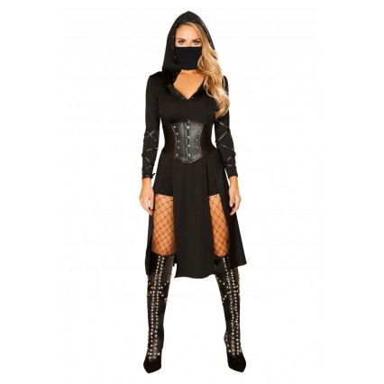 Halloween Sexy Lingerie Costumes Wholesale The Queens Assassin Halloween Costume with Face Mask