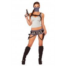 Halloween Sexy Lingerie Costumes Wholesale Treasure Huntress Costume with Face Mask